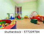 small game room in kindergarten.   Shutterstock . vector #577209784