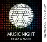 template for music night | Shutterstock .eps vector #577211089