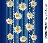 beautiful white daisy flowers... | Shutterstock .eps vector #577216810