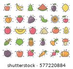 simple stylized icons of... | Shutterstock .eps vector #577220884
