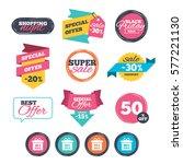 sale stickers  online shopping. ... | Shutterstock . vector #577221130