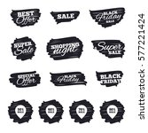 ink brush sale stripes and... | Shutterstock . vector #577221424