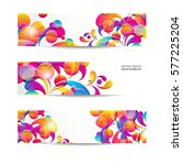 abstract web banners with... | Shutterstock .eps vector #577225204