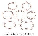 set decorative frames .vintage ...   Shutterstock .eps vector #577230073