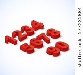 numbers set. vector... | Shutterstock .eps vector #577235884