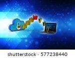 transferring information or... | Shutterstock . vector #577238440