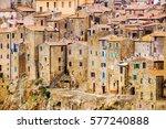 pitigliano is a small medieval... | Shutterstock . vector #577240888