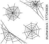 spider web set isolated on... | Shutterstock .eps vector #577243834
