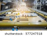 parts semiconductor on pcd... | Shutterstock . vector #577247518