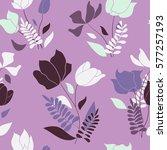 whimsical seamless flourish... | Shutterstock .eps vector #577257193