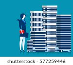 businesswoman owner of... | Shutterstock .eps vector #577259446