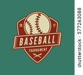baseball club logo. vintage... | Shutterstock .eps vector #577263088