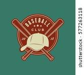 baseball club logo. vintage... | Shutterstock .eps vector #577263118