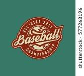baseball club logo. vintage... | Shutterstock .eps vector #577263196