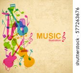 music abstract background with... | Shutterstock .eps vector #577263676