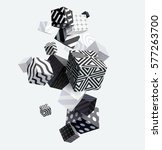3d decorative cubes. abstract... | Shutterstock .eps vector #577263700