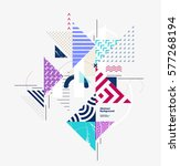 abstract colorful geometric... | Shutterstock .eps vector #577268194