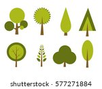 set of trees vector illustration | Shutterstock .eps vector #577271884