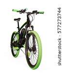 Black And Green Electric Bike....