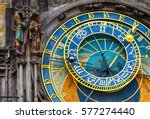 astronomical clock prague orloj ... | Shutterstock . vector #577274440