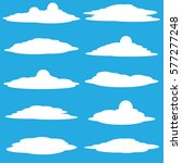 clouds vector collection... | Shutterstock .eps vector #577277248