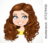 beautiful brunette girl with... | Shutterstock .eps vector #577279450
