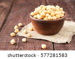 Cooked Chickpeas On A Bowl....