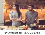 young beautiful couple in... | Shutterstock . vector #577281766