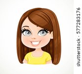 beautiful brunette girl with... | Shutterstock .eps vector #577283176