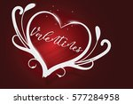 happy valentines day red... | Shutterstock .eps vector #577284958
