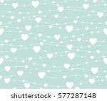 seamless pattern hearts.... | Shutterstock . vector #577287148