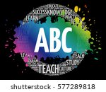abc word cloud collage ...