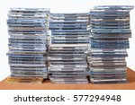 compact discs with case  | Shutterstock . vector #577294948