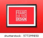 frame on the wall. photoframe... | Shutterstock .eps vector #577299850