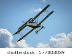 Historical plane Sopwith 1½ Strutter replica in flight