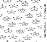 seamless pattern with origami... | Shutterstock .eps vector #577303960
