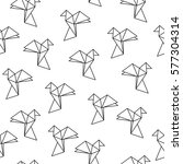 seamless pattern with origami... | Shutterstock .eps vector #577304314