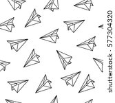 seamless pattern with origami... | Shutterstock .eps vector #577304320