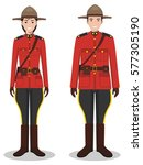 couple of canadian policeman... | Shutterstock .eps vector #577305190