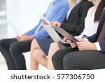 group of people waiting for job ... | Shutterstock . vector #577306750