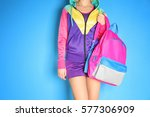 fashion concept. young woman... | Shutterstock . vector #577306909