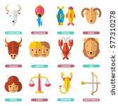 zodiac signs horoscope poster... | Shutterstock .eps vector #577310278