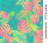 fashion tropical seamless... | Shutterstock .eps vector #577312456