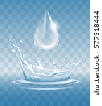 water splash like crown and... | Shutterstock .eps vector #577318444