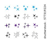 sparkles icons vector set.... | Shutterstock .eps vector #577319224