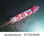 container container ship in... | Shutterstock . vector #577319650