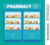 male pharmacist in a pharmacy... | Shutterstock .eps vector #577321213