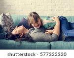 family people feelings... | Shutterstock . vector #577322320