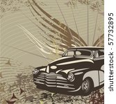 hot rod background with a retro ... | Shutterstock .eps vector #57732895
