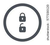 lock icon  flat design style   Shutterstock .eps vector #577330120